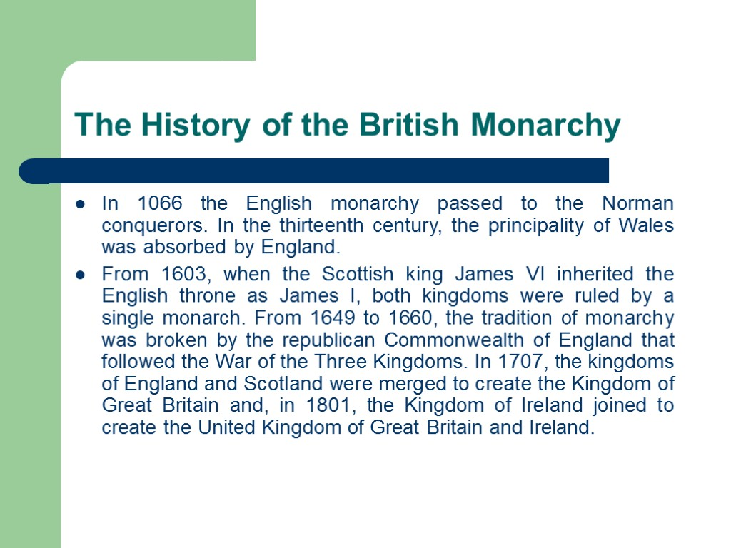 an introduction to the history of monarchy in the united kingdom