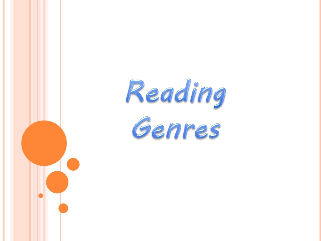 Reading Genres