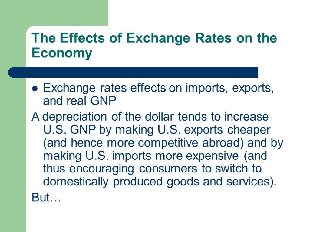 the effect of exchange rate on Exchange rates work through foreign exchange markets here are the three factors that affect them.