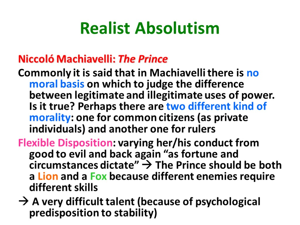 differences between democracy and absolutism