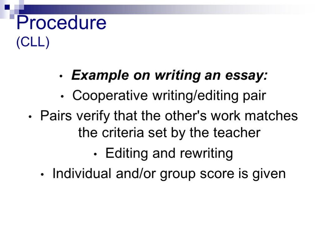 examples of process writing