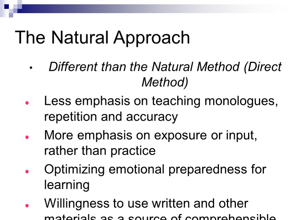 the nature of approach