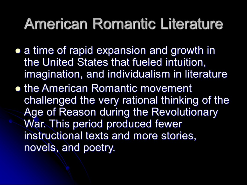 early american literature High school american literature courses december 29, 2013 michelle kretzschmar 2 comments the following is a listing of resources for teaching american literature at the high school level.