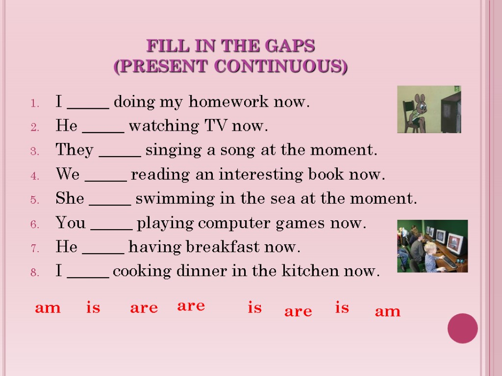 Present vs Progressive Tense English Grammar Games and