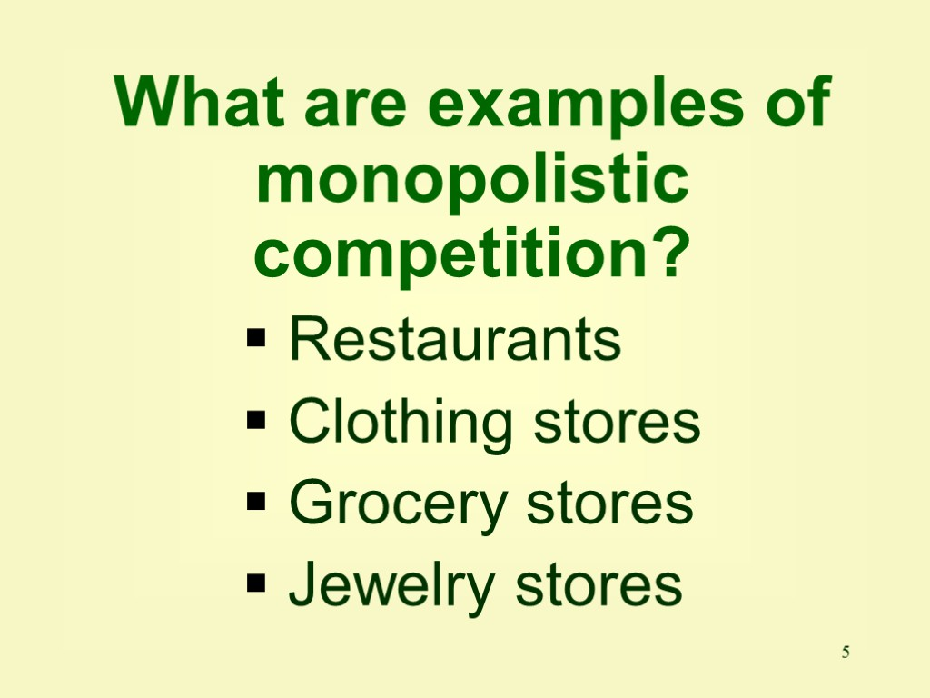 oligopolies and monopolistic competition grifols talecris Whereas monopolistic competition is characterized by a high degree of brand loyalty, low concentration ratios, some market power, and independent product decisions one of the main differences between an oligopoly and a monopolistically competitive firm is that a.