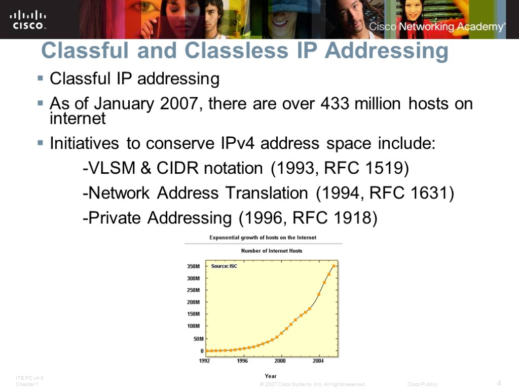 classless and classful routing Classful classful routing protocols strictly follow the subnet masks i-e for class a (8-bit prefix or /8), b (16-bit prefix or /16), and c (24-bit prefix or /24.