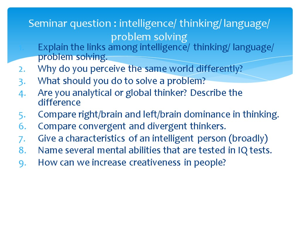 the link between language and intelligence 1977) effect of bilingualism on intelligence kalyani k sampath tamil langua ge institute 1 introduction this study reports the effect of learning through second language as medium of instruction on.