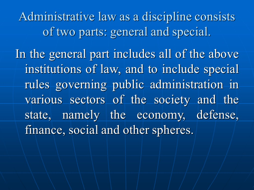 administrative law irrationality in english law See also: judicial review judicial review is a procedure in english administrative law by which the courts in england and wales supervise the exercise of public power on the application of an individual.