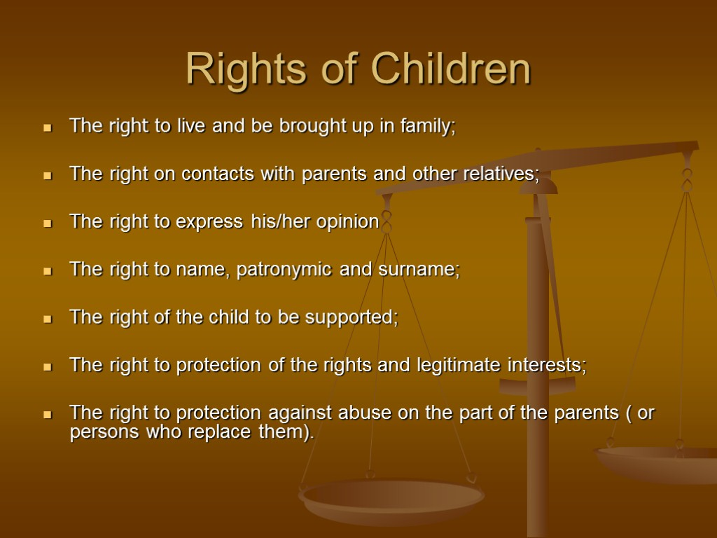 rights to live The legal information in this letter is from justice for children and youth, a legal clinic in toronto that provides legal assistance to young people in ontario their website is wwwjfcyorg in ontario, a person who is 16 or 17 years old has the legal right to withdraw from parental control.