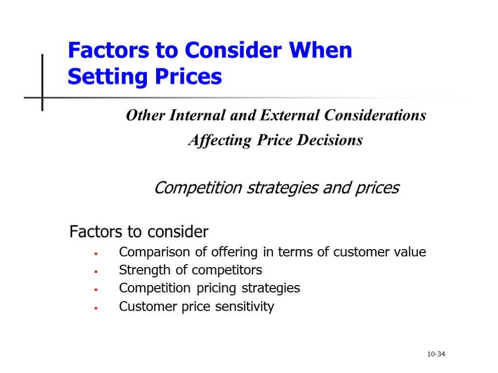 internal and external actors affecting southwest airline pricing decision