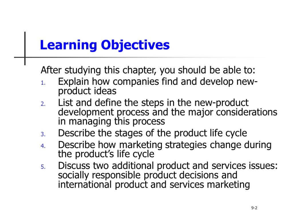 describe the stages of the product life cycle