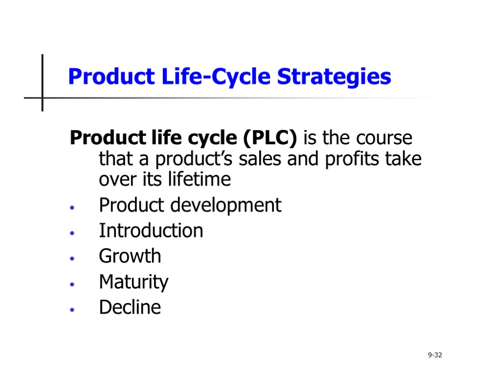 product lifecycle The product lifecycle, in a marketing context, is all the stages of a product's life span that are related to its promotion and sales the marketing lifecycle is traditionally broken down into four stages: introduction, growth, maturity and decline.