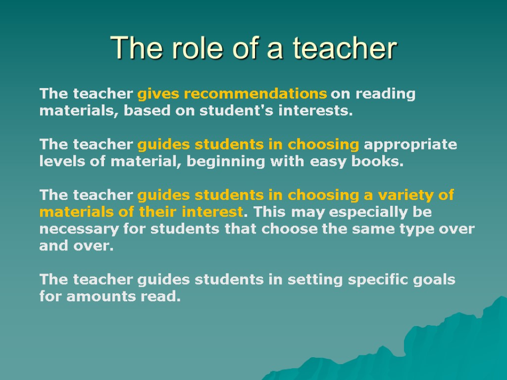 roles of the interactive teacher The role of e-learning in science education list of position statements introduction the national science teachers association (nsta) supports and encourages the use of e-learning experiences for prek-16 science students, as well as for science educators engaging in professional learning in the traditional, informal, or online learning environment.