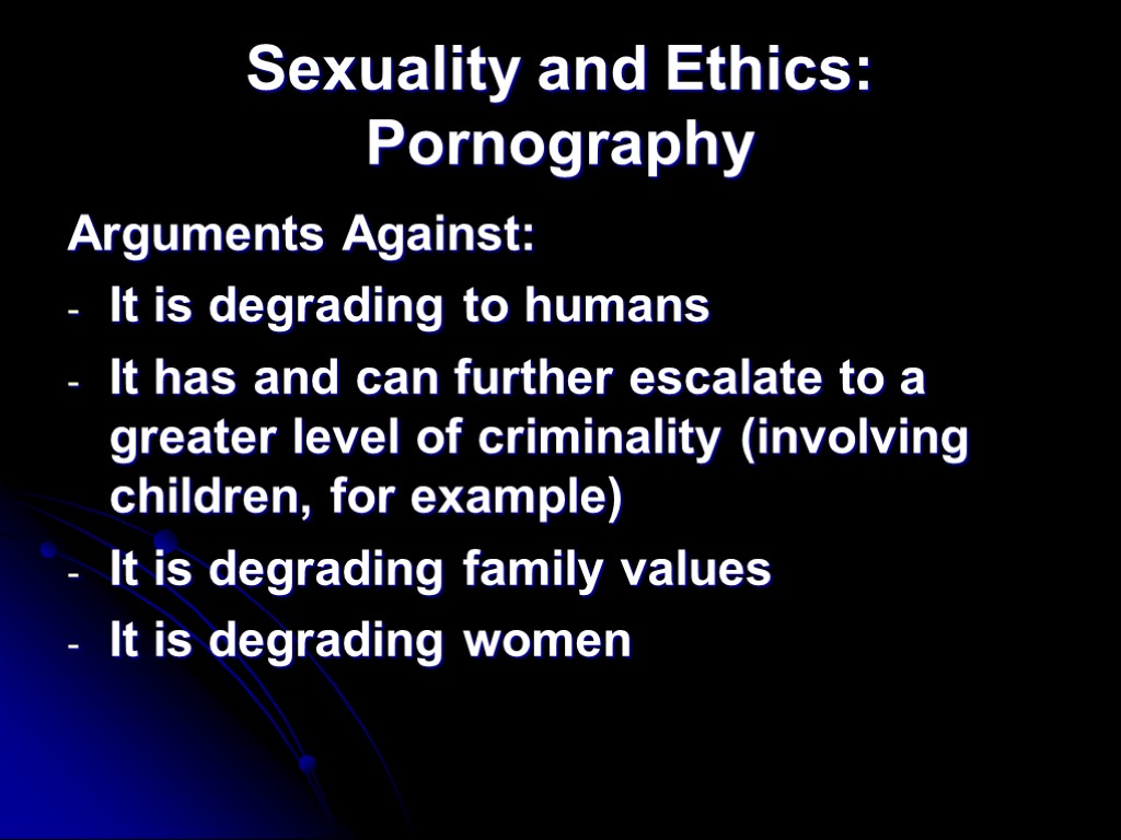 pornography ethics