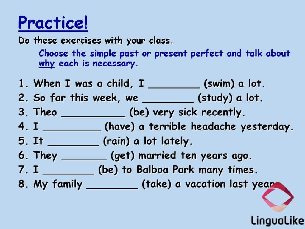 Past Simple or Present Perfect 1 perfectenglishgrammarcom