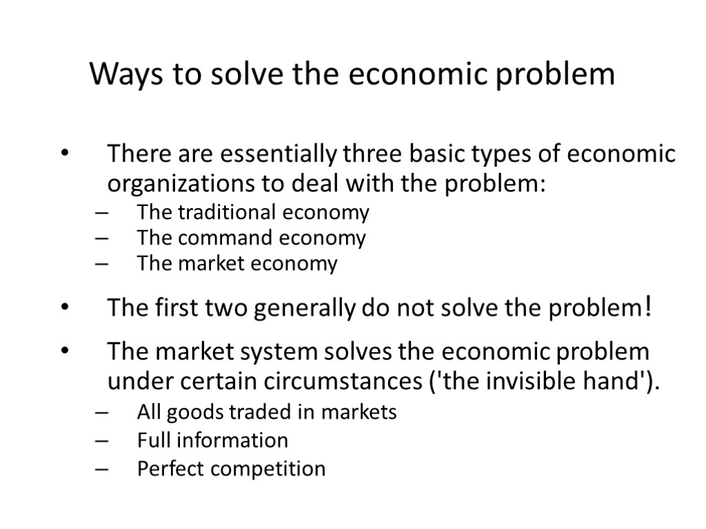 four basic economic problems As an entrepreneur and as an economic agent, there are three basic economic questions you should ask when deciding how to business economics for entrepreneurs.