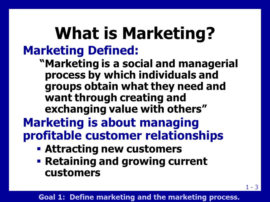 defining marketing essay Include in your paper your personal definition of marketing and definitions from two different sources based on these definitions, explain the importance of marketing in organizational success provide at least three examples from the business world to support your explanation.