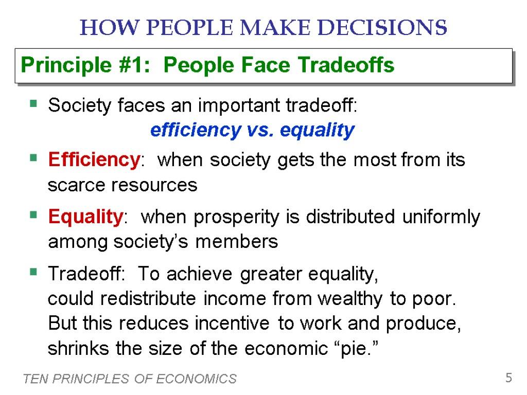 principles of economics 4 essay