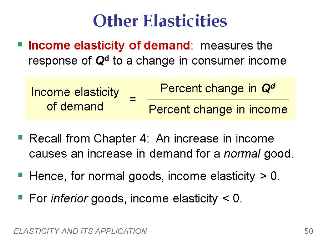 Elasticity And Its Application Economics P R I