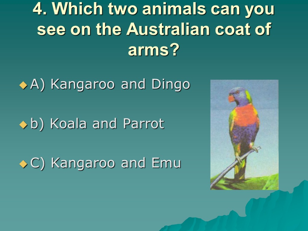 Australian Animals Dingo Emu Parrot Crocodile Koala