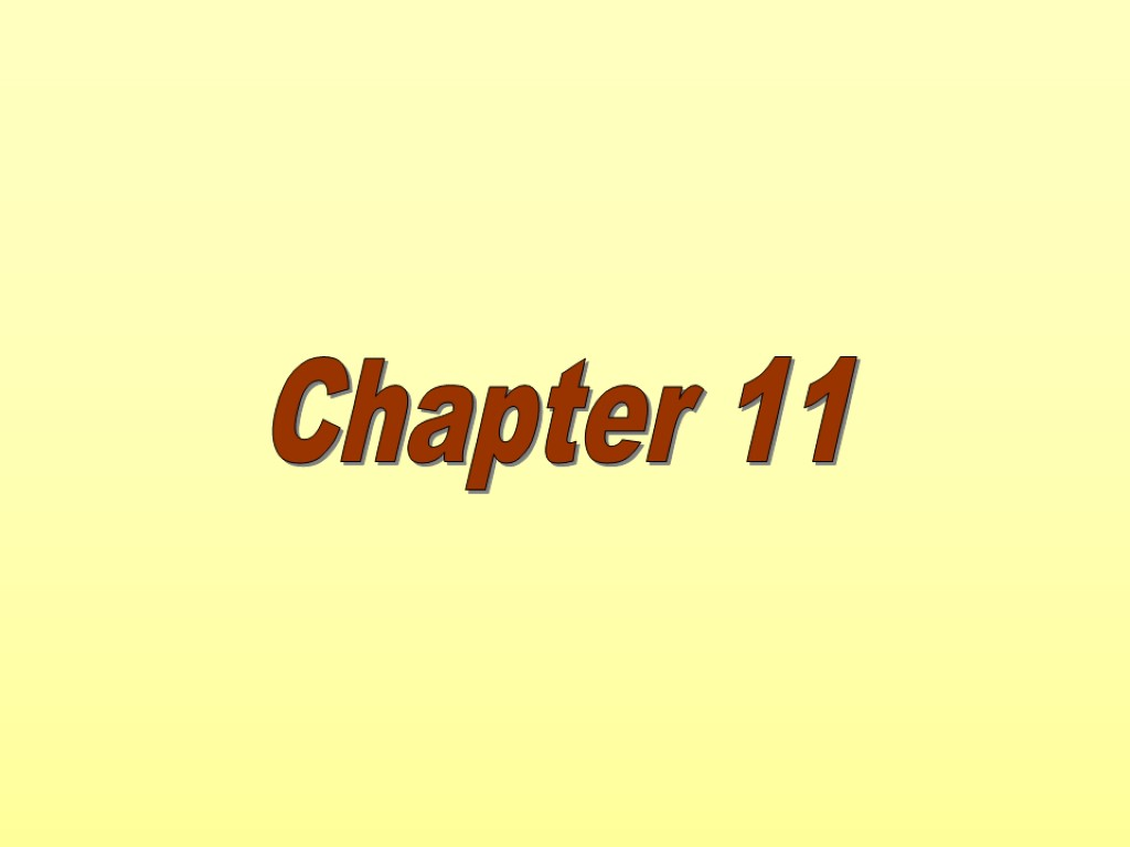 Chapter Eleven Chapter 11