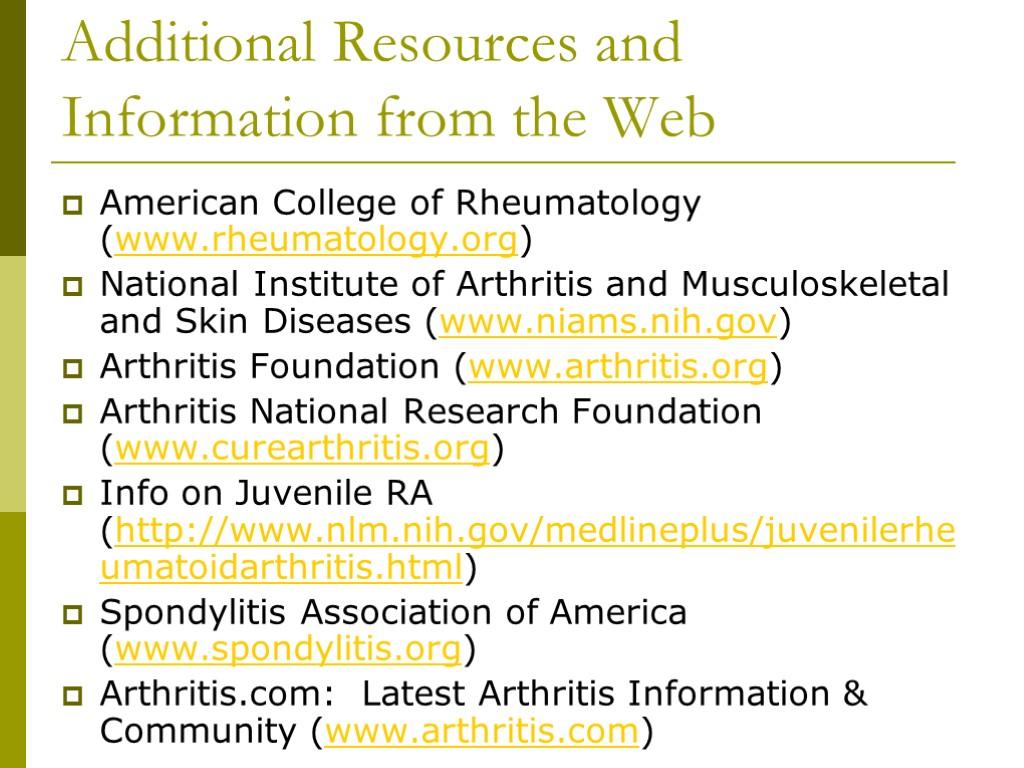 Department of rheumatology Students' independent work Theme: Rheumatic