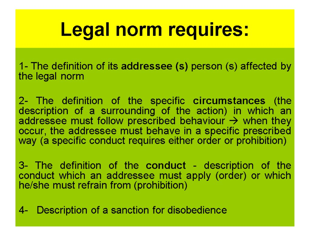 legal norms and other norms Norms vs values obedience to our elders is considered to be a good value and also a norm in our society students showing respect to their teachers is.
