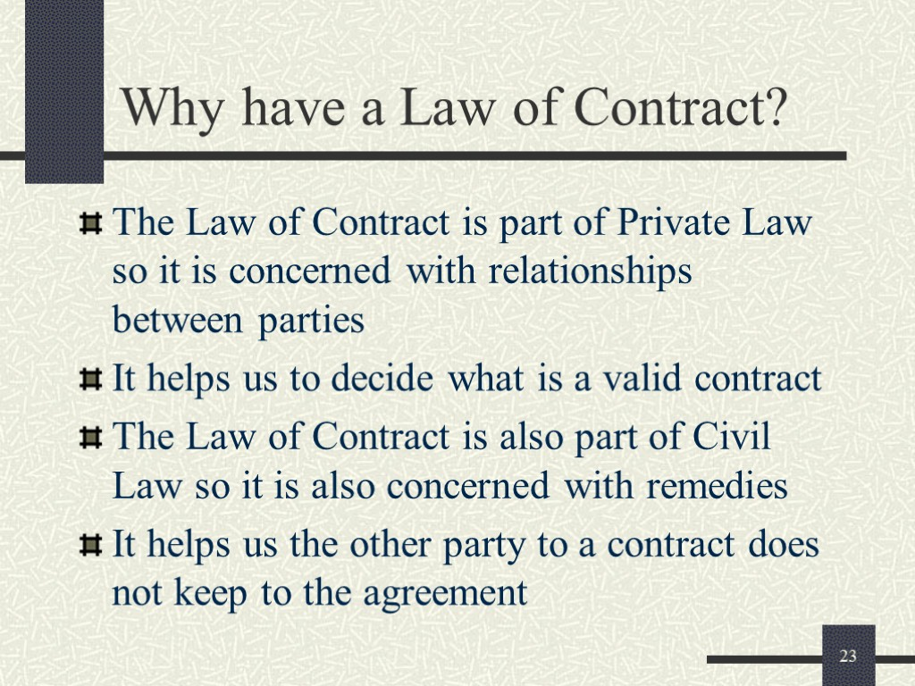 Legal Environment Contract 1 What Is A Contract