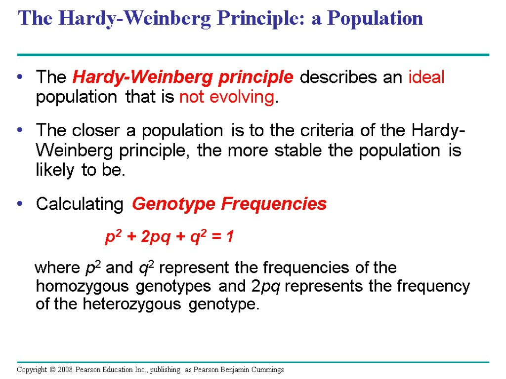 a lab report evolution and the hardy weinberg principle
