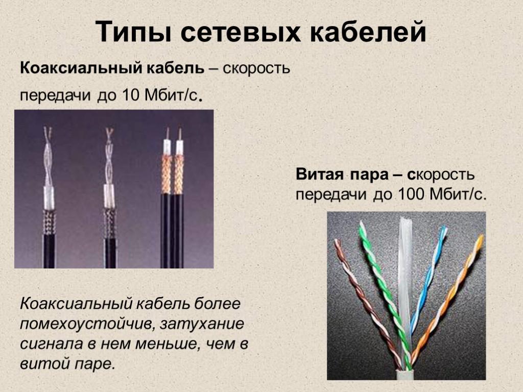 картинки витой пары и коаксиального кабеля