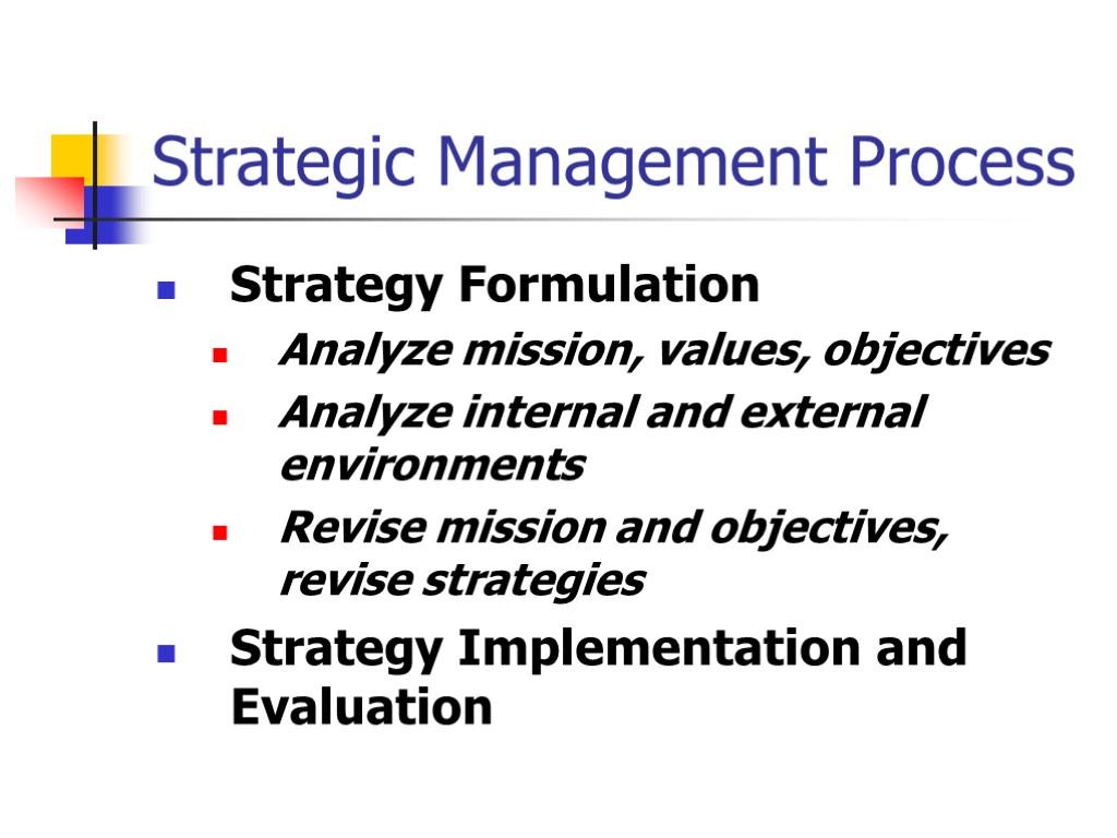 strategic managementstrategy formulation essay Strategic management explores growth strategies for enterprises including their formulation students enrolling in 500 level strategic management papers.