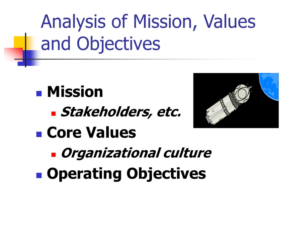 the core objectives of an operations management strategy Introduction to operations management core services performance objectives the activities of operations management operations strategic objectives the.