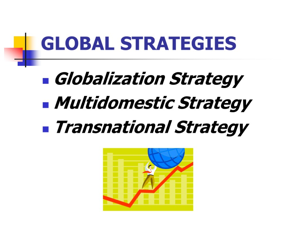 examples of global multidomestic or transnational strategies