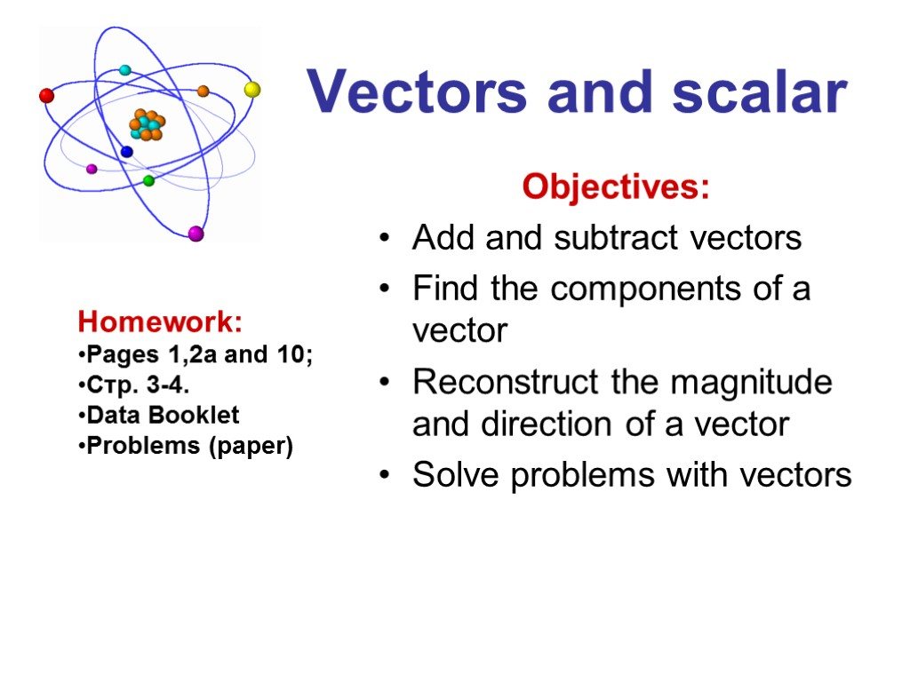 Adding and subtracting coplanar vectors