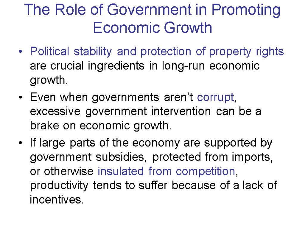 role of government in economics