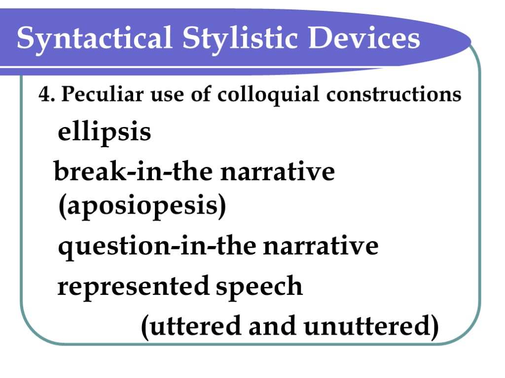 stylictic devices