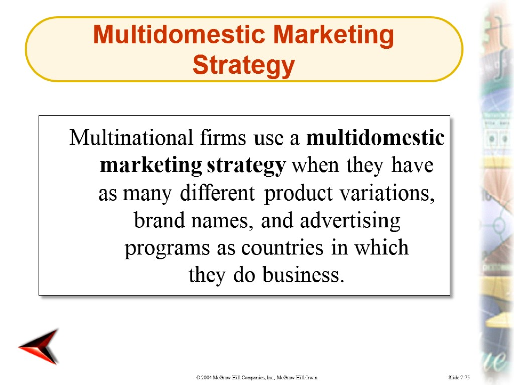 multidomestic strategy 26 a multidomestic strategy would likely include the use of high volume from mana 4322 at ut arlington.