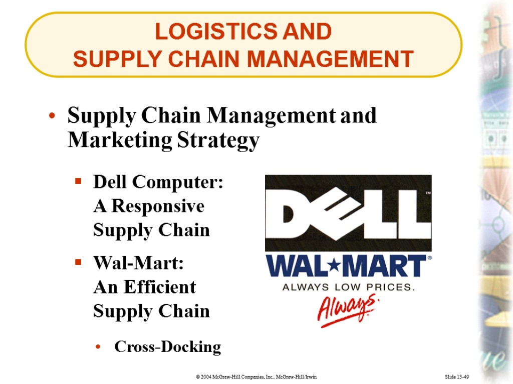 Slide 13 -2 MANAGING MARKETING CHANNELS AND SUPPLY
