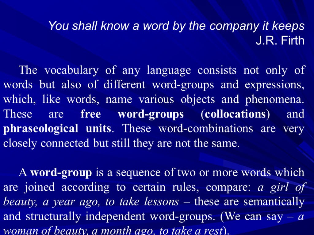 The phraseology does not make a soul. The meaning and origin of the expression