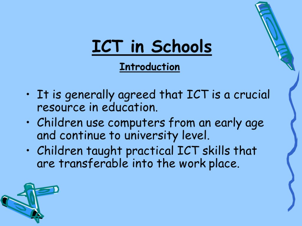the role of ict in teaching esl The role of ict in education technology is supporting changes to the way students are learning the growing use of ict as an instructional medium is changing and will likely continue to change many of the strategies employed by both teachers and students in the learning process.