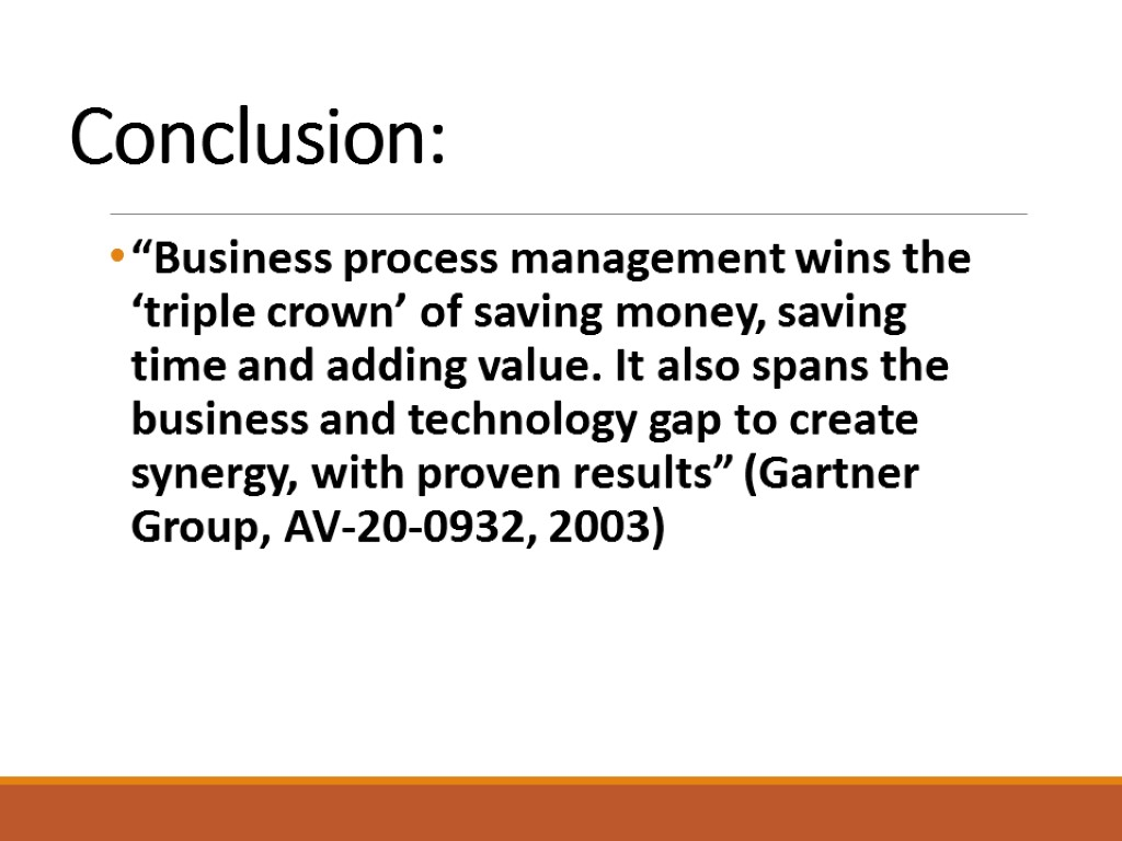 conclusion of business Writing business proposals content by claudia brady, converted for web by amanda haislip conclusion a business proposal is composed of numerous parts.