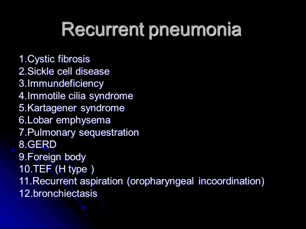 Respiratory Tract Disorders Dr Owis Khater Congenital Disorders