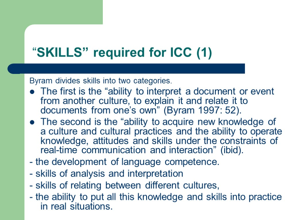 new knowledge attitudes and skills acquired