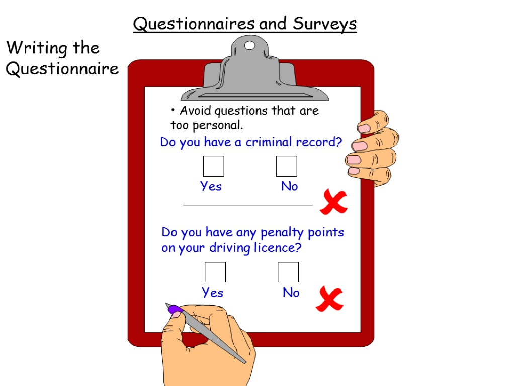 Too Personal Questionnaires and Surveys Writing the Questionnaire Avoid questions that are too personal.
