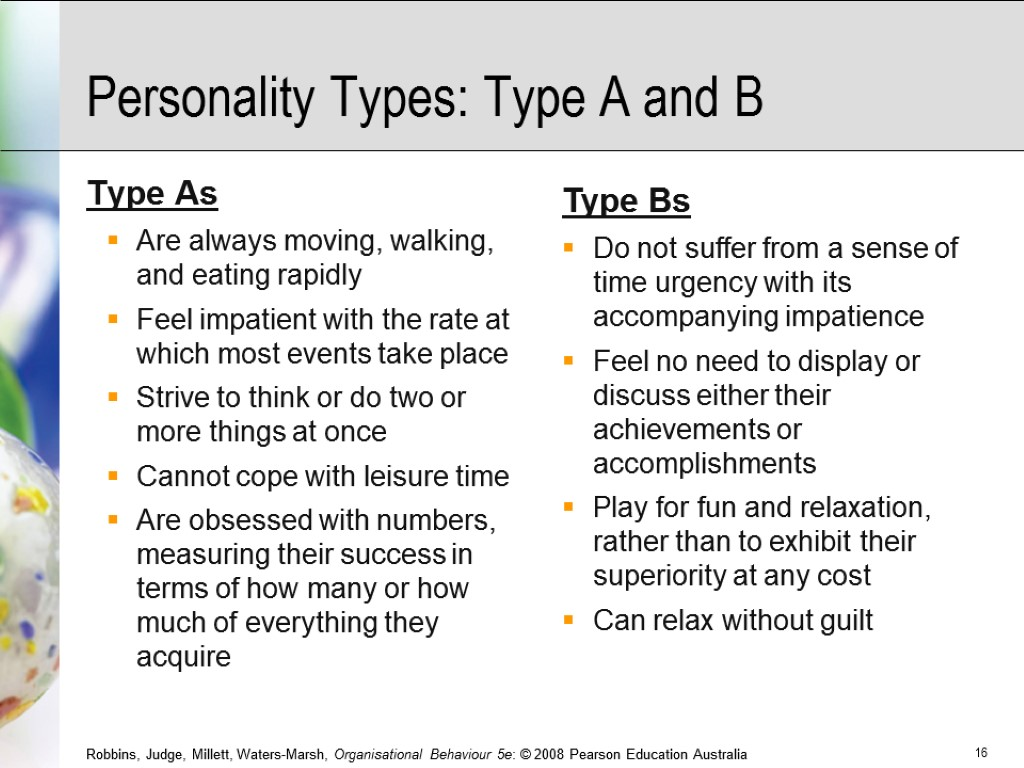 type a personality and its consequences Personality and exercise research objectives of the study of personality • are certain personality attributes • individuals possess certain body types.