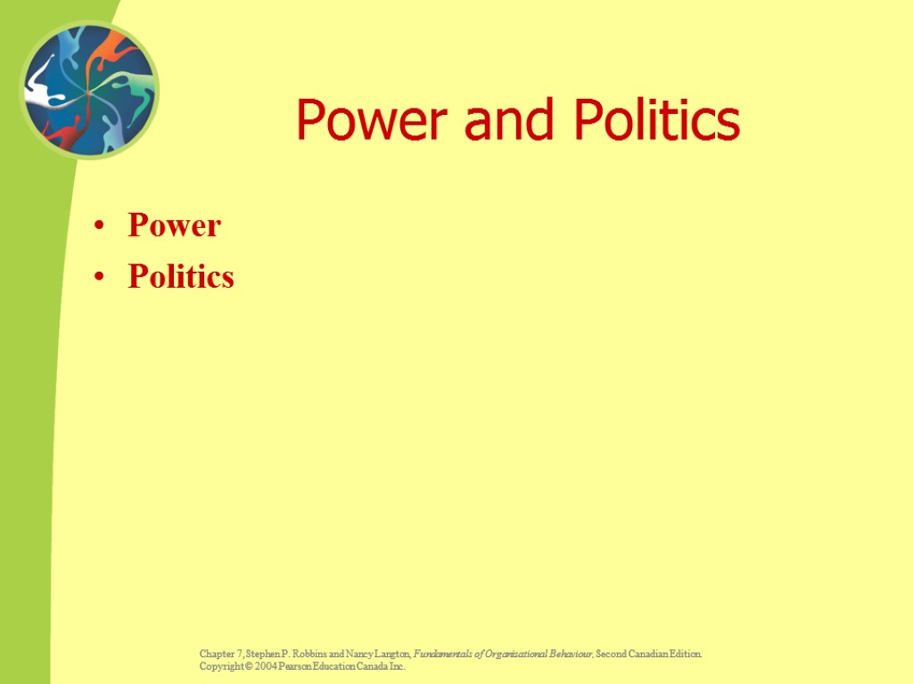 Power and Politics Power Politics