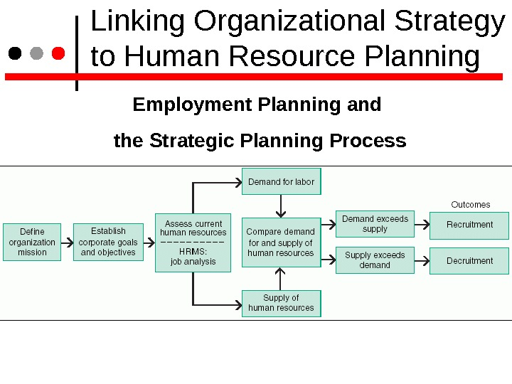 Linking Organizational Strategy to Human Resource Planning Employment Planning and the Strategic Planning Process
