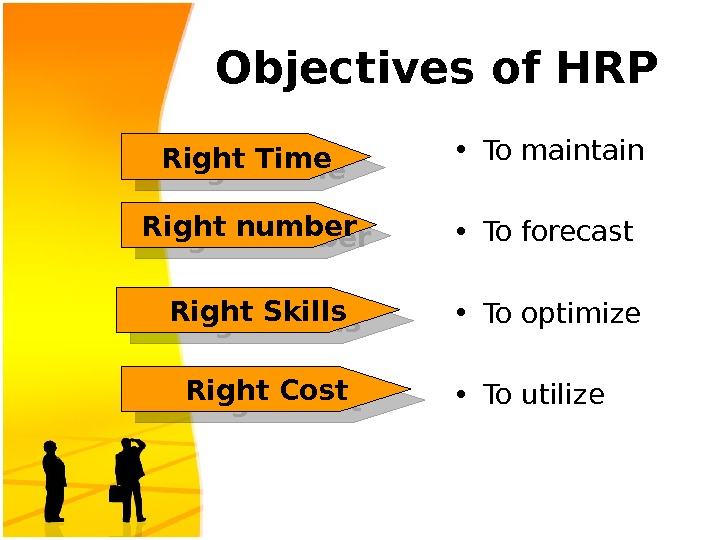 Objectives of HRP • To maintain  • To forecast • To optimize  • To