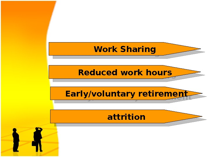 Work Sharing Reduced work hours attrition. Early/voluntary retirement 1 E 09 1711 28