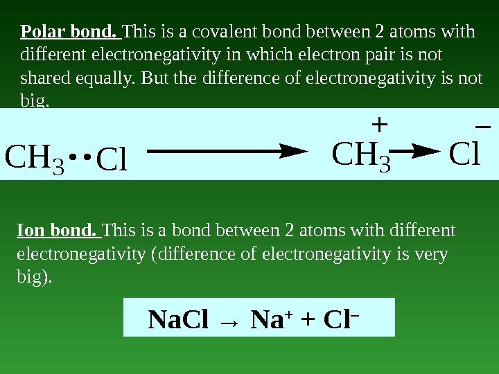 Polar bond.  This is a covalent bond between 2 atoms with different electronegativity in which